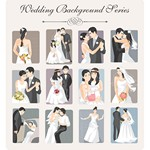 Wedding Backgrounds Illustrator 01