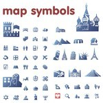 Blue Map Symbols
