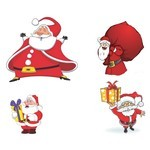 Cartoon Santa Claus Vector 01 [EPS File]