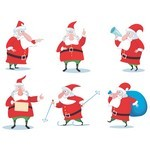 Cartoon Santa Claus Vector 02 [EPS File]