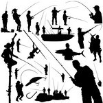 Fisherman Silhouettes