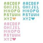 Pixel style Letters Vectors [EPS File]