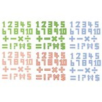 Pixel Style Numbers Vectors [EPS File]