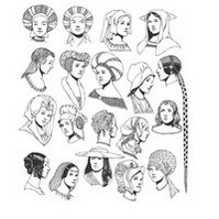 Renaissance Tradition of Woman Head and Hats Vectors [EPS File]