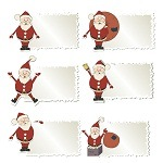Santa Christmas Labels 01 [EPS File]