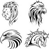 Leon, Horse, Eagle Silhouette