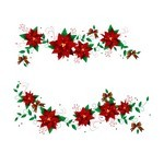Flower Christmas Wreaths