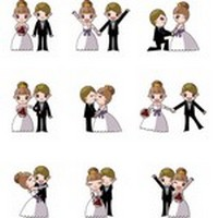 Cute cartoon wedding