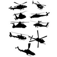 Helicopter Silhouettes 02