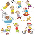 Cartoon Children, Kids, People 06