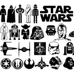 Star Wars Symbol Silhouettes