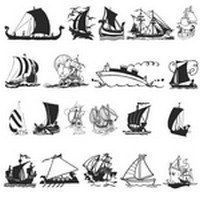 Ship Silhouettes 02