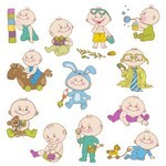 Cartoon Baby, Children, Kids 03