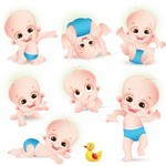Cartoon Baby, Children, Kids 04