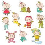 Cartoon Baby, Children, Kids 05