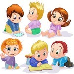Cartoon Baby, Children, Kids, People 01