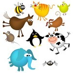 Cute Cartoon Animals 05