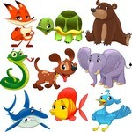 Cute Cartoon Animals 06