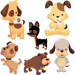 Cute Cartoon Animals, Dog