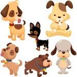 Cute Cartoon Animals, Dog