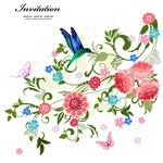 Floral Frame, Border Background, Flower Card