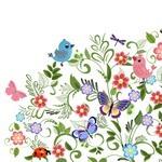 Floral Frame, Flower Card, Border Background