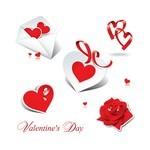 Heart, Rose, Ribbon