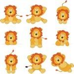 Cute Cartoon Animals, Lion