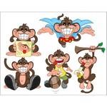 Cute Cartoon Animals, Monkey