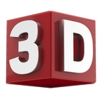 The Word 3D in 3D [PNG – 1024×1024]