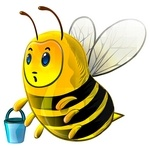 Bee Stickers Icon Set [PNG]