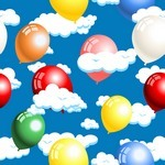 Cloud, Balloon Background 01