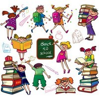 Back to School – Cute Colorful Cartoon Boys and Girls