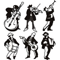 Different Musicians Silhouette