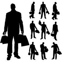 Different Occupations Man Silhouettes 02