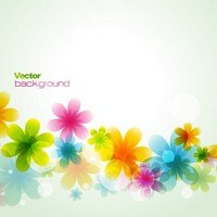Dream spring flowers background 02