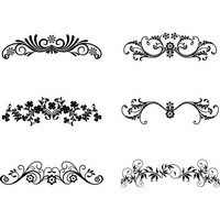 Floral Ornamental Design Elements 02