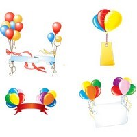 Party Balloons Vectors 01