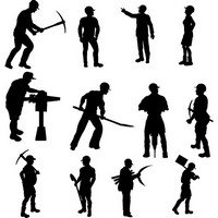 Workers Silhouettes Set 01