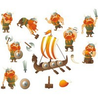 Cartoon Vikings Vector