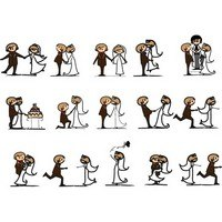Cartoonstyle Wedding Elements