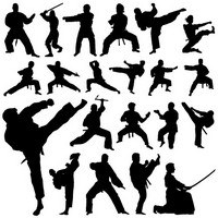 Martial Art Silhouettes 01