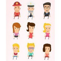 Flat People Characters