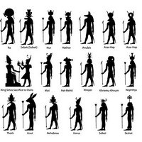 Ancient egypt silhouette