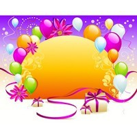 Balloon gift card background