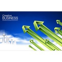Business data arrow poster