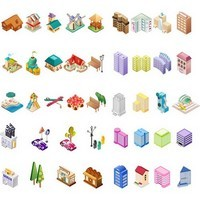 Cartoon Construction Icons 03