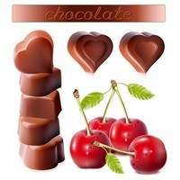 Chocolates and cherry