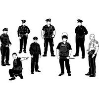 Cops policeman silhouettes