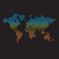 Dotted map world